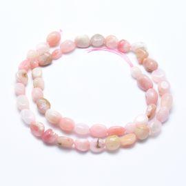 Natūralūs Rožinio Opalo karoliukai, 6-8 mm, 1 gija