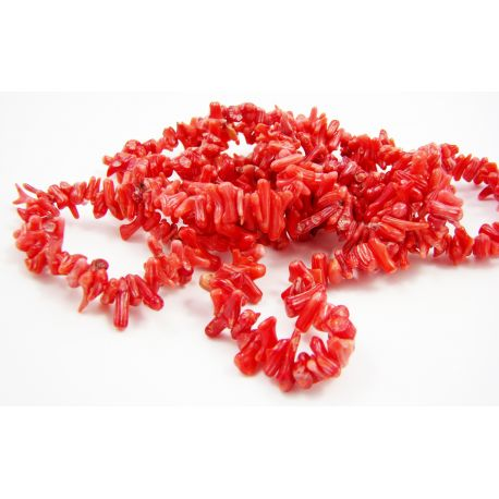 Coral chipping thread red 5 - 13mm thread length 60 cm