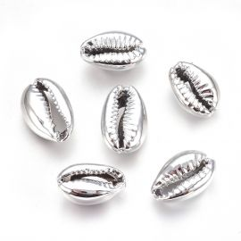 Metalizuotos SHELL kriauklės 2 vnt., 15-20x10-12x5-6 mm, 1 maišelis