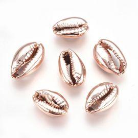 Metalizuotos kriauklės 2 vnt., 15-20x10-12x5-6 mm, 1 maišelis