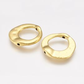 Irregular frame - ring 2 pcs., 20x20x3 mm, 1 bag