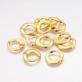 Irregular frame - ring 2 pcs., 20x20x3 mm, 1 bag