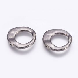 Netaisyklingos formos rėmelis - žiedas 2 vnt., 20x20x3 mm, 1 maišelis