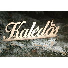 """Medinė dekoracija """"Kalėdos"""". Pagaminta iš 3 mm faneros."""