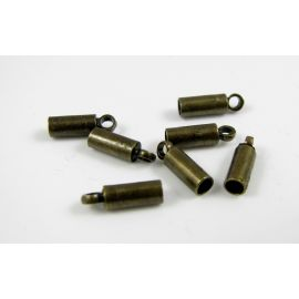 The finishing part is designed for necklaces, bracelets, jewelry, bronze color, 8x2.5 mm, 10 pcs.