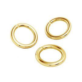 Single open ring 925 6.40 mm. 4 units.