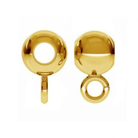 Gold-plated holder for pendant 925 7.4x4x2.1 mm. 2 pcs.