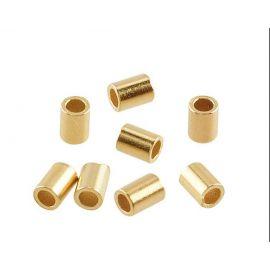 Paauksuoti sidabriniai spaustukai 925 1,5x2 mm. 10 vnt.