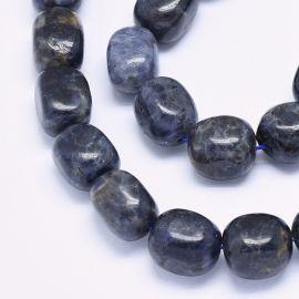 Dabīgas Sodalīta pērles 12-17x11-13 mm 1 dzīsla