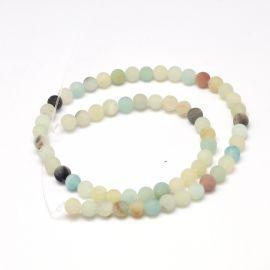 Natural Amazonite beads 6 mm 1 thread