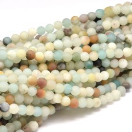Natural Amazonite beads 6 mm 1 thread