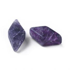 Бусины из натурального флюорита Для ожерелья Бижутерия Фиолетовый-Бело-Жёлтый Размер 17-22x9-11 мм