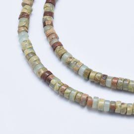 Natural Aqua Terra Jasper beads 4x2 mm 1 thread