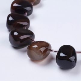 Natural Agate beads 22-25x18-20x15 mm 1 pc