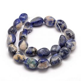 Natural Sodalite beads 18-25x15-23 mm 1 pc
