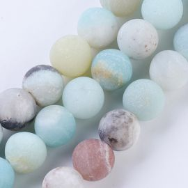 Natural Amazonite beads 8 mm 1 thread