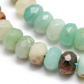 Natural Amazonite beads 8x5 mm 1 thread