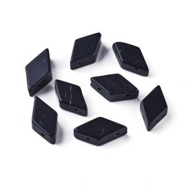 Natural Black Stone Beads 17-22x9-11 mm 1 pc