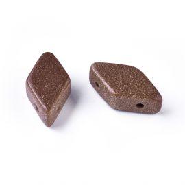 Бусины из синтетического солнечного камня 17-22x9-11 мм 1 шт.