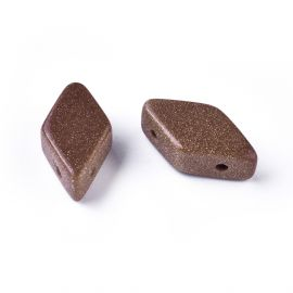 Synthetic Solar Stone Beads 17-22x9-11 mm 1 pc