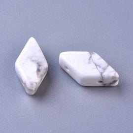 Natūralūs Houlito karoliukai 17-22x9-11 mm 1 vnt