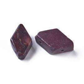 Натуральные бусины мокко для украшения колье Фиолетовый - коричневый - желтый размер 17-22x9-11 мм