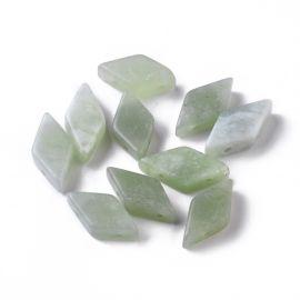 Jade beads 17-22x9-11 mm 1 pc