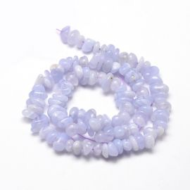 Natūralūs Blue Lace Agato skalda 5-14x4-10 mm 1 gija