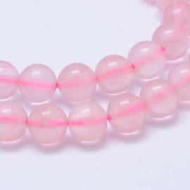 Естественные шарики розового кварца Мадагаскара на размер 12мм пинка ювелирных изделий ожерелий круглый