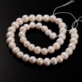 Natural freshwater pearls for necklace bracelets for jewelry Minor defects may occur .. Peach color size