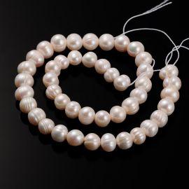 Натуральный пресноводный жемчуг для ожерелий, браслетов для украшений Возможны незначительные дефекты. Размер персикового цвета