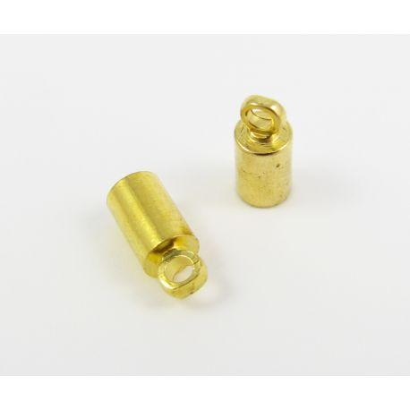 Užbaigimo detalė virvutei, aukso spalvos, 9x4 mm