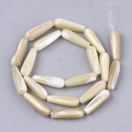 Natural shell beads 19-20x6 mm 4 pcs.