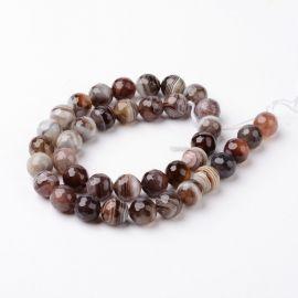 Natural Botswana Agate Beads 10 mm 1 strand