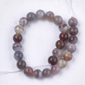 Natural Botswana Agate Beads 8 mm 1 strand