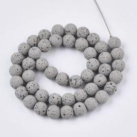 Бусины из натуральной лавы 8-8,5 мм 1 нить
