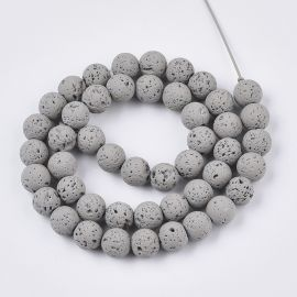 Natural Lava beads 8-8.5 mm 1 thread