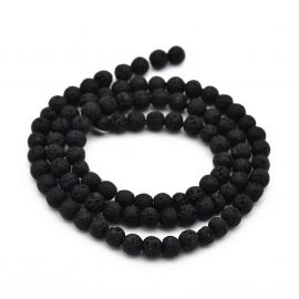Natural Lava beads 4-4.5 mm 1 thread