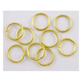 Одиночные кольца из латуни для украшений колье Цвет Золото размер 8х1 мм