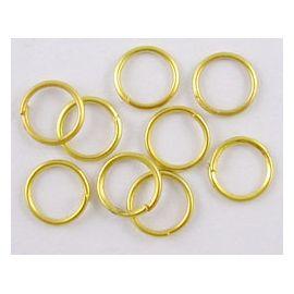 Žalvariniai viengubi žiedeliai vėriniamsapyrankėmspapuošalams Aukso spalvos dydis 8x1 mm
