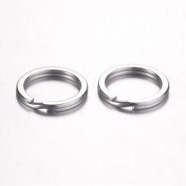 Nerūdijančio plieno 304 raktų žiedai 20x3 mm 5 vnt.