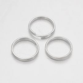 Brass double rings 10x1 mm 30 pcs.