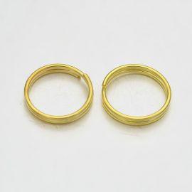 Misiņa dubultie gredzeni 10x1 mm 30 gab.