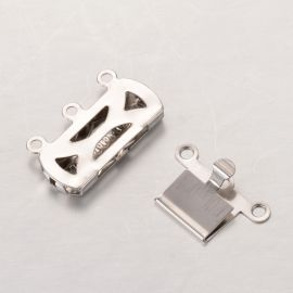 Stainless steel 304 clasp - box 19x14x3 mm 2 pcs.