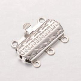 Nerūdijančio plieno 304 užsegimas - dėžutė 19x14x3 mm 2 vnt.