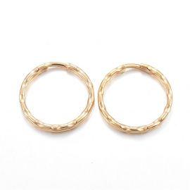 Nerūdijančio plieno 304 raktų žiedai 21x2 mm 4 vnt.