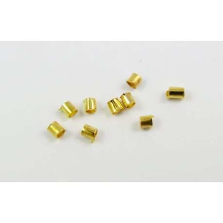 Apdares detaļa, klipsis, zelta krāsa 1,5x1,5 mm