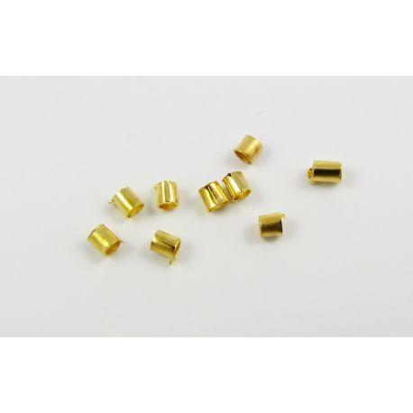 Užbaigimo detalė, spaustukas, aukso spalvos 1,5x1,5 mm
