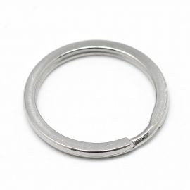 Stainless steel 304 key rings for necklaces for jewelry Gray size 30x2 mm