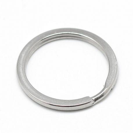 Nerūdijančio plieno 304 raktų žiedai vėriniamsapyrankėmspapuošalams Pilkos spalvos dydis 30x2 mm